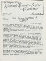 Women's Resource Center Newsletter (Mar. 1979)
