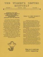 Women's Center Monthly (Spring 1988)