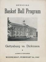 Dickinson vs Gettysburg Basketball Program (Feb. 1937)