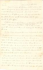 Letter from James Buchanan to Unknown Recipient