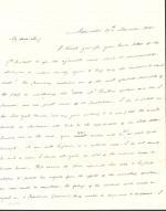 Letter from James Buchanan to Ross Wilkins