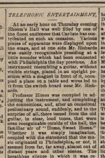 "Carlisle Herald, ""Telephonic Entertainment"""
