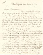 Letters from Spencer Baird to George Lawrence (Oct. - Dec. 1869)