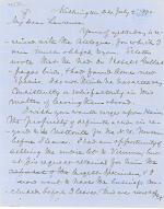 Letters from Spencer Baird to George Lawrence (Jul. - Aug. 1870)