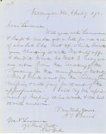 Letters from Spencer Baird to George Lawrence (Apr. - Jun. 1872)