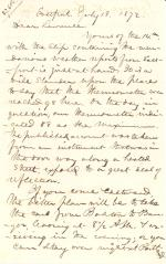 Letters from Spencer Baird to George Lawrence (Jul. – Aug. 1872)