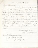 Letters from Spencer Baird to George Lawrence (Oct. – Dec. 1872)