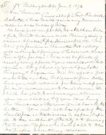 Letters from Spencer Baird to George Lawrence (Jan. – Jul. 1873)