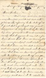 Letters from Thomas Dick (Jan. - Mar. 1862)