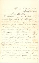 Letters from John Cuddy (April 1863)