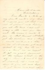 Letters from John Cuddy (Oct. – Nov. 1863)