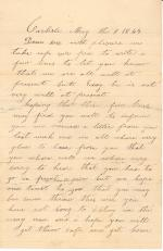Letter from Agnes Cuddy to John Cuddy
