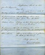 Letter from James Sellers to William Wagenseller