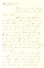 Letters from Alexander McClure to Eli Slifer, 1854-59