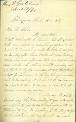 Letters from Israel Gutelius to Eli Slifer (Apr. - Dec. 1861)