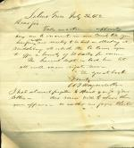 Letter from William Wagenseller to Unknown Recipient