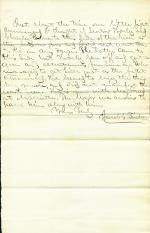 Letter from Jacob Frick to Unknown Recipient