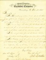 Letter from Andrew Curtin to William Taylor