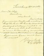 Letters from George Miller to Eli Slifer
