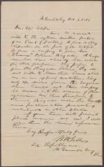 Letters from W. W. Sellers to Eli Slifer