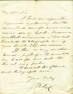 Letters from Andrew Curtin to Eli Slifer (circa 1860)
