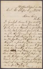 Letter from M. Chamberlin to Eli Slifer