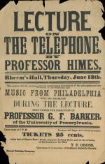 "Broadside of ""Lecture on the Telephone"""