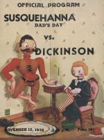 Dickinson vs Susquehanna Football Program (Nov. 1938)