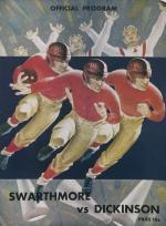 Dickinson vs Swarthmore Football Program (Oct. 1936)