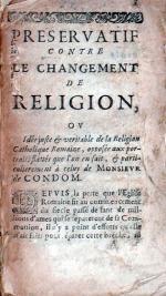 Préservatif contre le changement de religion, ou idée juste et véritable...