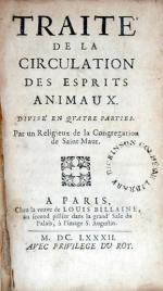 Traité de la Circulation Des Esprits Animaux. Divisé En Qvatre Parties