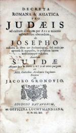 Decreta Romana & Asiatica Pro Judaeis ad cultum divinum per Asiae...
