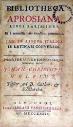 Bibliotheca Aprosiana Liber Rarissimus