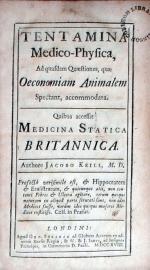 Tentamina Medico-Phyisca, Ad quasdam Quaestiones, quae Oeconomiam...