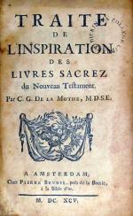 Traite De L'Inspiration Des Livres Sacrez du Nouveau Testament