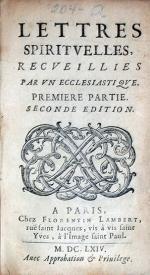 Lettres Spiritvelles, Recveillies Par Vn Ecclesiastiqve (V)