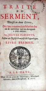 Traité Du Serment, Divisé en deux Livres