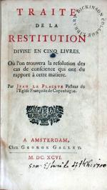 Traité De La Restitution Divisé En Cinq Livres