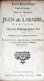 Traité Eclesiastique Propre de ce tams, .l'Exercice Profetique selon St. Pol...