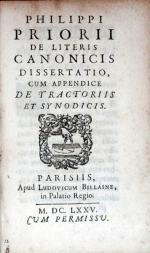 De Literis Canonicis Dissertatio, Cum Appendice De Tractoriis Et Synodicis