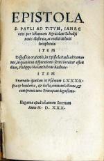 Epistola S. Pavli ad Titvm...