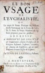 Le Bon Vsage De L'Evcharistie