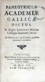 Panegyricus Academiae Gallicae Dictus