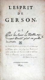 L'Esprit De Gerson