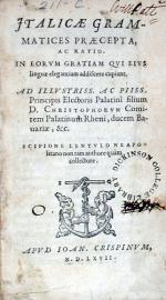 Italicae Grammatices Praecepta, Ac Ratio