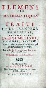 Elemens Des Mathematiques Ou Traité De La Grandeur En General...