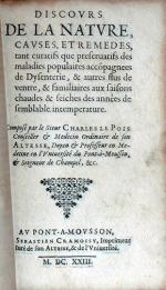 Discovrs De La Natvre, Cavses, Et Remedes...