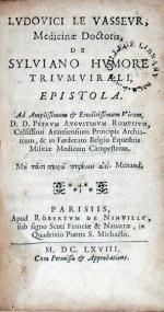 De Sylviano Hvmore Trivmvirali, Epistola