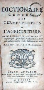 Dictionaire General Des Termes Propes A L'Agriculture