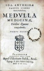Medvlla Medicinae, Partibus Quatuor comprehensa